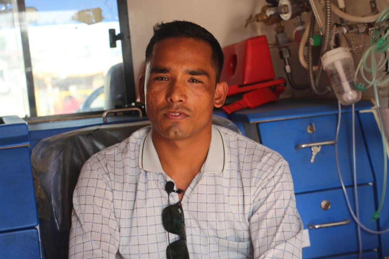 एम्बुलेन्स चालक कर्ण वली तस्विरः नेपालगन्ज ग्यालरी